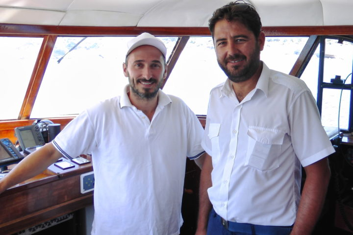 Yiannis, the smiling Captain and our super crew will be happy to assist you_Sounio Cruise