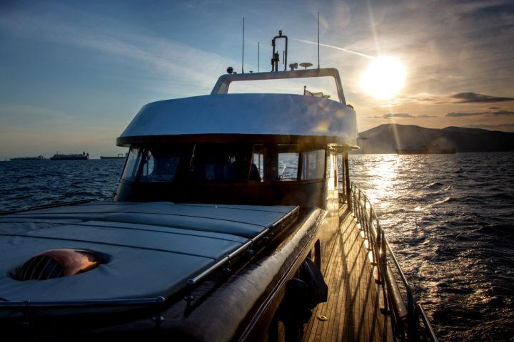 Sunset on the yacht_01_Sounio Cruise